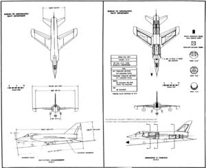 Grumman F11F-1 Tiger drawings