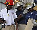 Guantanamo firefighters discuss a performance review -a.jpg