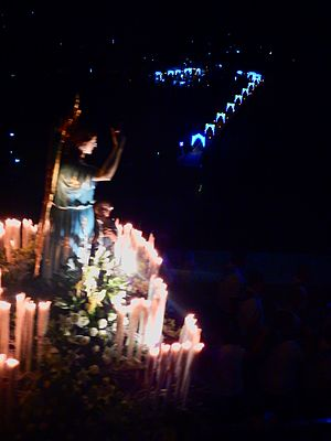 Guardian angel - the celebration of the Guardian Angel at Fondachelli-Fantina on second Sunday of July, Sicily