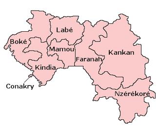 Subdivisions of Guinea - Regions of Guinea.