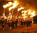Guisers in the procession at Uyeasound Up Helly Aa (geograph 3848202).jpg