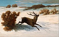 Gustave Courbet - Deer Running in the Snow - Google Art Project.jpg