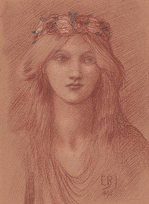 Lady Gwendolen Gascoyne-Cecil - Gwendolen Gascoyne-Cecil (1860-1945) (Edward Coley Burne-Jones, 1895)