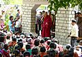HH the Dalai Lama talking to locals at Sissu. Aug. 2010.jpg