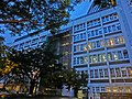 HK Wan Chai night Oi Kwan Road Morrison Hill IVE school building May-2014.JPG