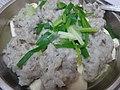 HK food steamed Minced mud carp 鯪魚 Dace fish meat 肉魚 Bean Curd Tufo product 豆腐製品 Chinese spring onion Jan-2016 dinner (4).JPG