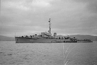 Colony-class frigate - Image: HMS Antigua 1944 IWM FL 821