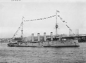 HMS Drake (1901) - Image: HMS Drake 1909