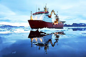 HMS Protector (A173) - On her first Antarctic deployment, March 2012