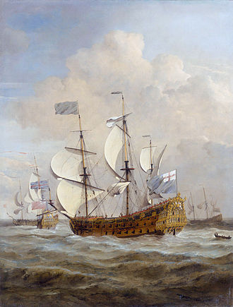 HMS St Andrew (1670) - Image: HMS St Andrew at sea in a moderate breeze