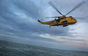 Prince William, Duke of Cambridge - Sea King helicopter being flown by William in 2010