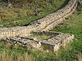 Hadrian's Wall and turret near Peel (3) - geograph.org.uk - 599486.jpg