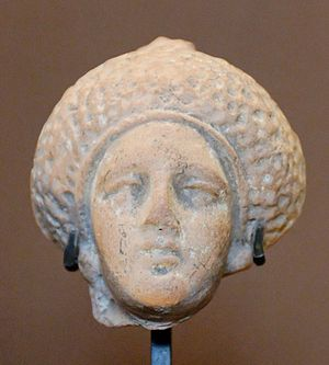Julia Flavia - Julia Flavia hairstyle, Terracotta made in Smyrna, c. 90 - Louvre