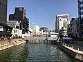 Hakatagawa River from Meijibashi Bridge.jpg