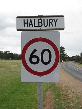 Halbury entrance sign.JPG