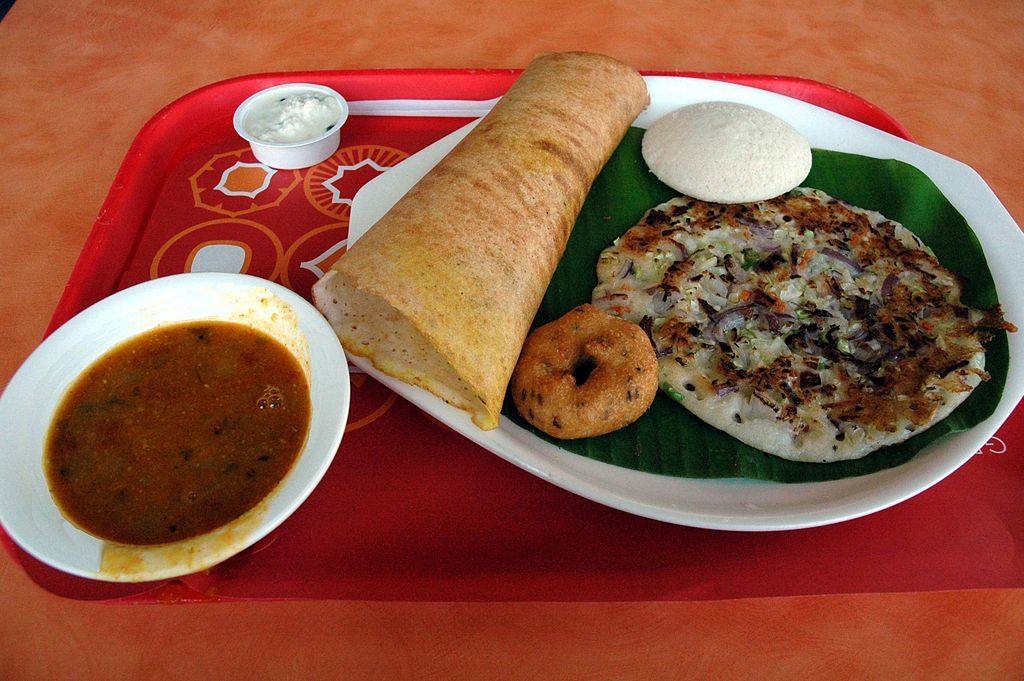 what to eat as a vegan in india. try masala dosa vegan food in india