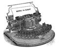 Hammond 1B typewriter, invented 1870s, manufactured 1881