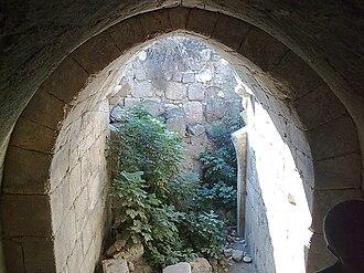Tel Hanaton - Crusader arch at Tel Hanaton