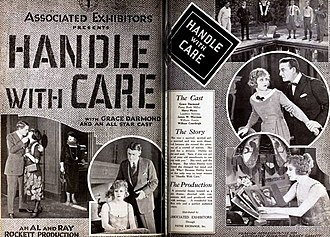 Handle with Care (1922 film) - Advertisement