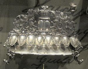 National Museum of American Jewish History - Image: Hanukkah lamp from Lodz, Poland, prior to 1881, silver, National Museum of American Jewish History