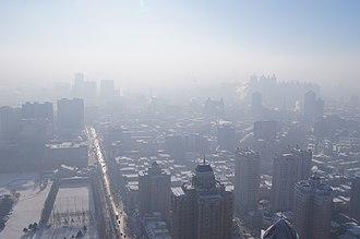 2013 Northeastern China smog - Smog in Harbin, China in December 2012