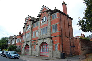 Harborne - The former City of Birmingham fire station, now divided up and converted into private homes.