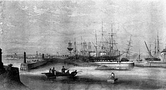 Clarence Railway - The West Hartlepool Harbour and Dock as it opened in 1847