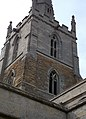 Harlaxton Ss Mary and Peter - exterior tower detail from southeast.jpg
