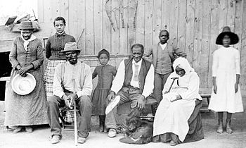 Tubman (far left), with Davis (seated, with ca...