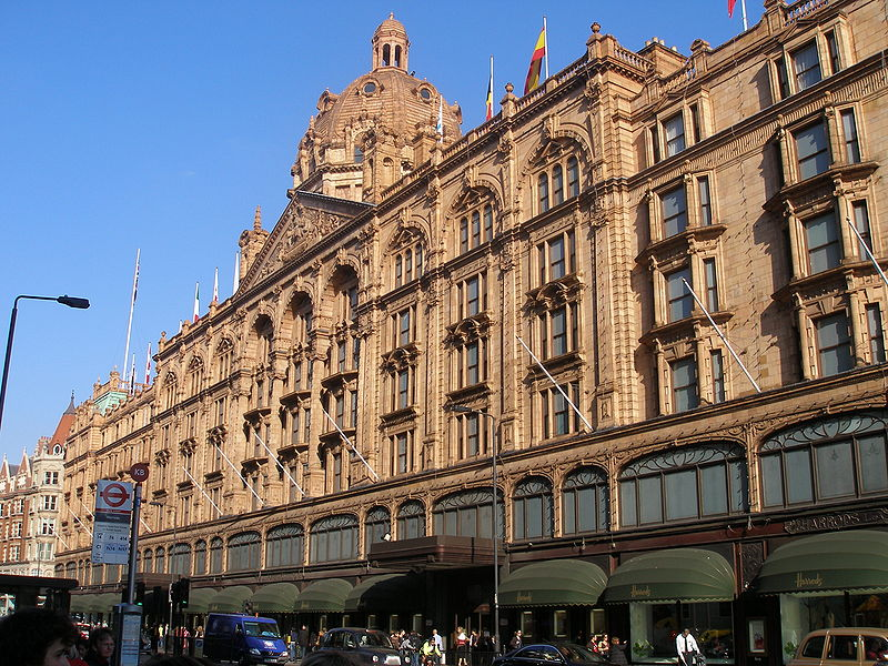 The world famous Harrods is in the very heart of Knightsbridge
