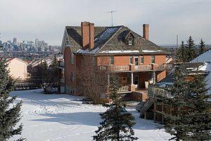 Hart House (Alberta) - The Hart House overlooking Calgary