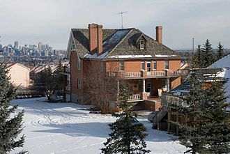 Hart House (Alberta) - The Hart House overlooking Calgary