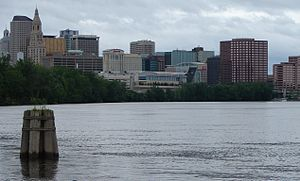 Hartford–Springfield - A view of Hartford as seen from East Hartford.