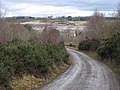 Haul road to clay sheds, Southacre Quarry - geograph.org.uk - 1740097.jpg