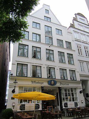 Deichstraße - Typical house in the Deichstraße.