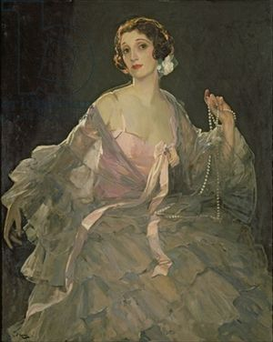 John Lavery - Hazel in rose and grey
