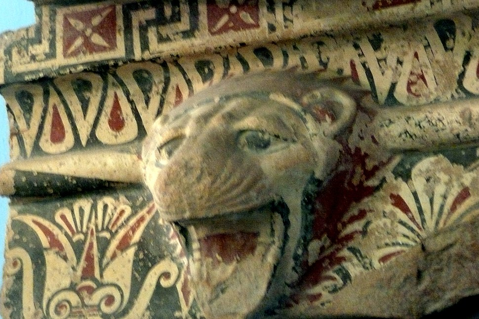 Head of Lion of the Temple of Hera -Paestum Museum