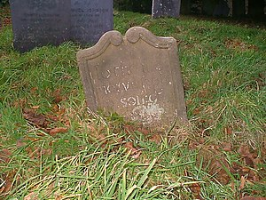 Headstone A very old and unusual headstone in ...