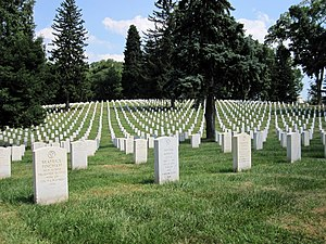National Register of Historic Places listings in Culpeper County, Virginia - Image: Headstones at Culpeper National Cemetery