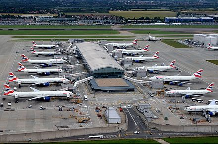 London Heathrow Airport is the busiest airport in Europe as well as the second busiest in the world for international passenger traffic. (Terminal 5C is pictured) Heathrow Terminal 5C Iwelumo-1.jpg