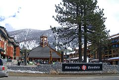 The gondola lift base in South Lake Tahoe