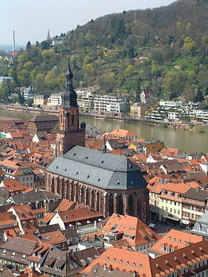 Church of the Holy Spirit, Heidelberg - The Church of the Holy Spirit from the castle