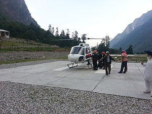 Hemkund - The recent helicopter service started between Govindghat and Gangaria