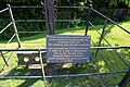 Hellmans Cross, Great Canfield, Essex, England - stocks and whipping post sign.JPG