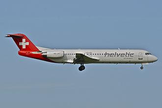 Helvetic Airways - Helvetic Airways Fokker 100