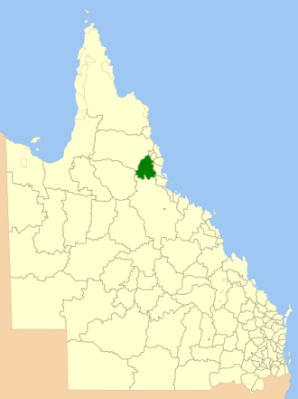 Shire of Herberton - Location within Queensland