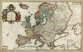 Herman Moll - Map of Europe Europe According to the Most Exact Observations, Londres, 1708 600.png