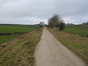 Highway - The term highway includes any public road. This is an unpaved highway in Northern England.