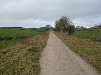 Long-distance trail - High Peak Trail, part of the Pennine bridleway