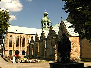 Hildesheim Cathedral, view from the northwest